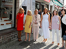 G7领导人配偶团 法国第一夫人打扮相当亮眼