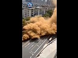杭州地面冒大量黄烟是燃气泄漏 未发现人员伤亡