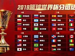 2019男篮世界杯分组结果及场地 2019篮球世界杯分组情况