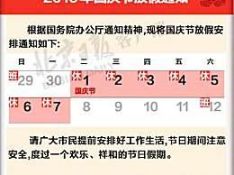 2019国庆节放假几天?从几号开始?