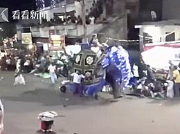 斯里兰卡庆典大象失控 17名伤者被送往医院