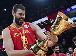 男篮世界杯决赛 西班牙95:75击败阿根廷夺冠