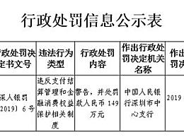 腾讯财付通遭央行处罚 因违反支付结算管理规定