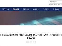 深交所谴责冯鑫 深交所对冯鑫给予公开谴责处分为什么