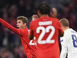拜仁3-0贝尔格莱德红星 拜仁主场3:0击败红星队精彩回放