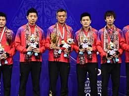 中国男乒夺得冠军 3比0横扫韩国队