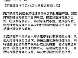 杜琪峰请辞金马奖评审主席 将由王童接任