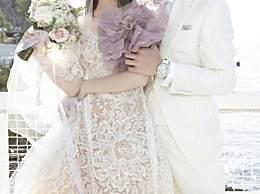 向佐郭碧婷婚礼现场照 甜蜜拥吻好幸福好般配