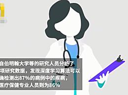 AI确诊率略高于人类医生?可正确检测出87%的疾病
