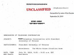 白宫通话录音证实此前传闻 特朗普电话门被弹劾结果如何
