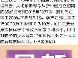 中国人均寿命从35提至77 居民健康水平持续改善