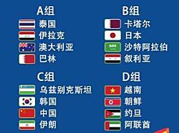 U23亚洲杯抽签结果出炉 U23男足亚洲杯小组分组中国分到C组