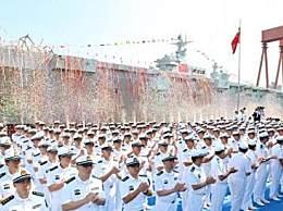 中国首艘两栖攻击舰下水 自主研制首型两栖攻击舰