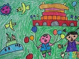国庆节简单图画大全 国庆节小学生简笔画优秀作品