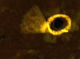 黑洞撕碎恒星景象 上万年才有一次太罕见