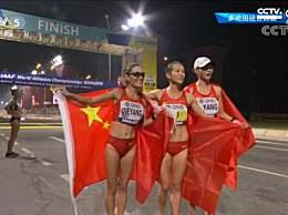 中国包揽女子20公里竞走前三 刘虹夺冠切阳什姐和小将杨柳静获亚季