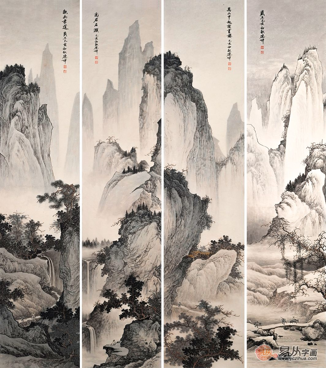 风格独特的室内字画装修 一瞬打开山水的奇妙世界