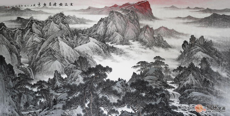 高端商务礼品字画 展现的是山水间别具一格的山水魅力