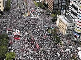 首尔数十万人集会 32万民众要求文在寅下台?