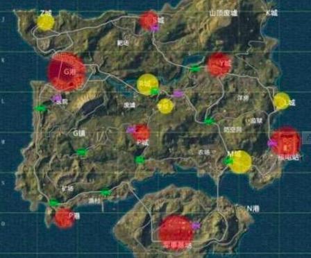 和平精英海岛地图资源哪里多 和平精英海岛资源分布图