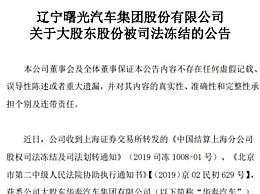 曙光股份再遭冻结 有息负债总计294.23亿元