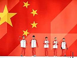 体操世锦赛中国队获男团亚军 中国小伙子们已经很棒了