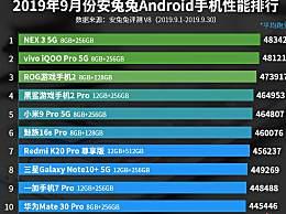 哪款安卓手机性能最好?9月安卓手机性能排行榜一览