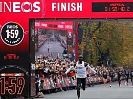 马拉松跑进2小时 基普乔格成功冲线