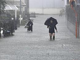 """日本5.7级地震 受""""海贝思""""影响突发暴风造成1人死亡5人受伤"""
