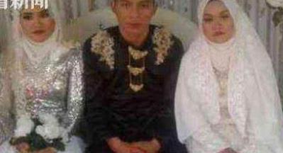 男子同时娶两女友 有了老婆还想要女友
