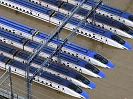 日本新干线被淹没 17号台风海贝思威力大造成严重灾害