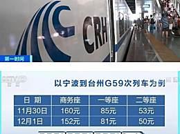 高铁票价再迎调整 高铁动车票价怎样调整