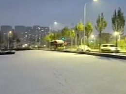 北国冰城哈尔滨迎来今冬首雪 是2019冬天的第一场雪