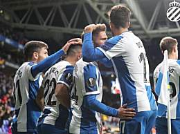 欧联杯小组赛武磊替补 西班牙人6-0击败卢多戈雷茨出线