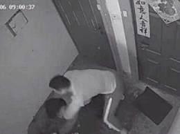 窃贼偷进特警家 企图逃跑被抱摔制服
