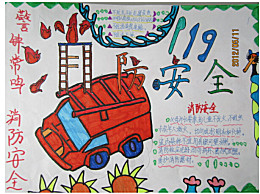 119消防日手抄报图片 119消防日手抄报内容文字
