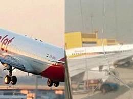机窗裂粘后继续飞 印度客机上演惊险一幕引发恐慌