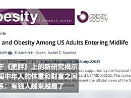 有钱人发福率更低 财富净值与肥胖呈显著负相关