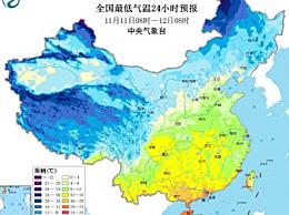 11日-14日最新天气预报 强冷空气影响我国大部分地区