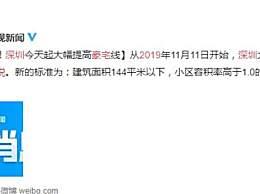 深圳豪宅税新标 建筑面积144平米以下满两年免征增值税