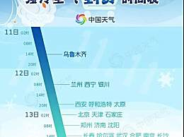冷空气到货时间表 冷空气依次到达哪些地区