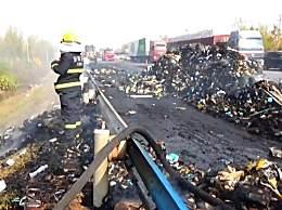 13吨快递货车起火 快递被烧卖家损失该由谁赔偿