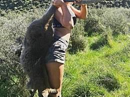 辣妈晒照收死亡威胁 硬核老妈独自捕猎238磅野猪