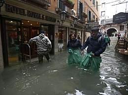 威尼斯经历150年来最危险一周 7天里城内水位4次超过1.4米