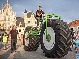 世界上最重的自行车 重达860公斤