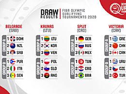 东京奥运男篮落选赛抽签结果 中国与希腊、加拿大同组