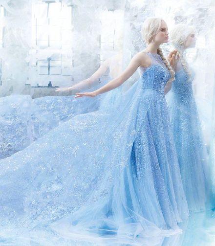 美晕了!迪士尼推出冰雪奇缘同款婚纱