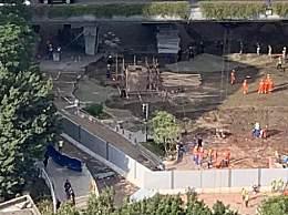 广州地陷坑洞部分回填 官方称安装钢护筒继续深挖救援