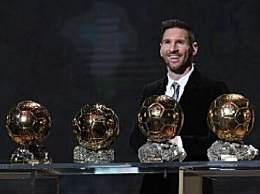 梅西获得第六座金球奖 成为国际足球史上第一人