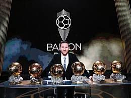 梅西六夺金球奖 梅西成赢得金球奖最多的球员